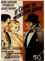 Le 18/11/2020 LE CRIME DE MONSIEUR LANGE